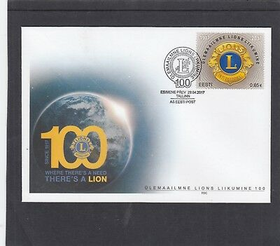 Estonia  2017 Lions International Centenary FDC Tallin special h/s