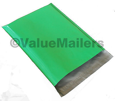 50 14.5x19 Green Poly Mailers Shipping Envelopes Couture Boutique Quality Bags