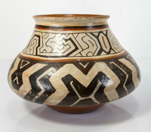 Antique Native South American Indian Amazonian River Pottery Vessel Bowl Beer Ke