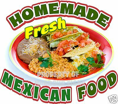 Homemade Mexican Food 14 Decal Restaurant Concession Truck Vinyl Menu Sign