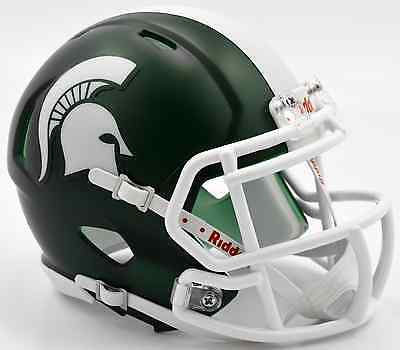 - MICHIGAN STATE SPARTANS NCAA Riddell SPEED Authentic MINI Football Helmet MSU