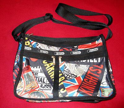 LeSportsac LONDON UK UNION JACK Deluxe Everyday Bag Crossbody Purse *Used*