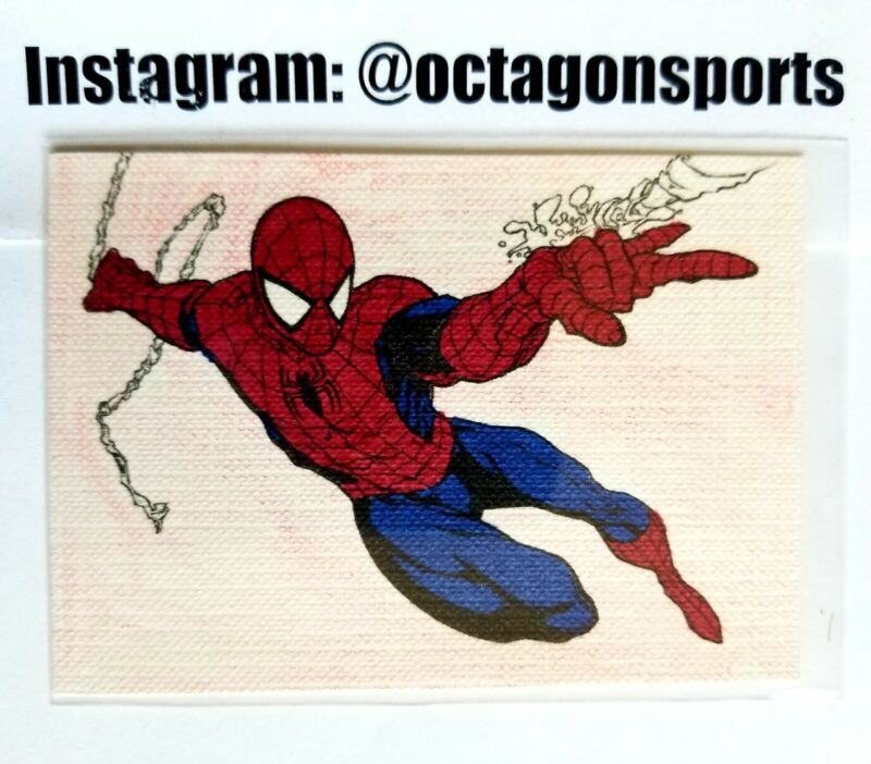 2014 ACEO MARVEL SPIDERMAN SKETCH CARD!! 1/1!! ONLY ONE!!