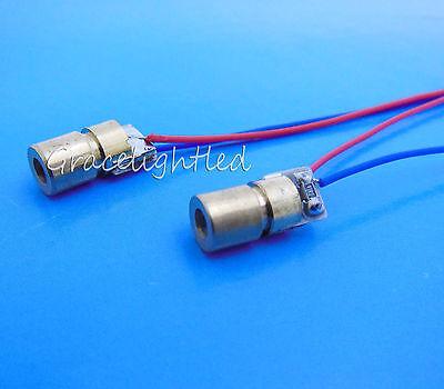 5pcslot New Deep Red 650nm 6mm 5v 5mw Mini Laser Dot Diode Module Head