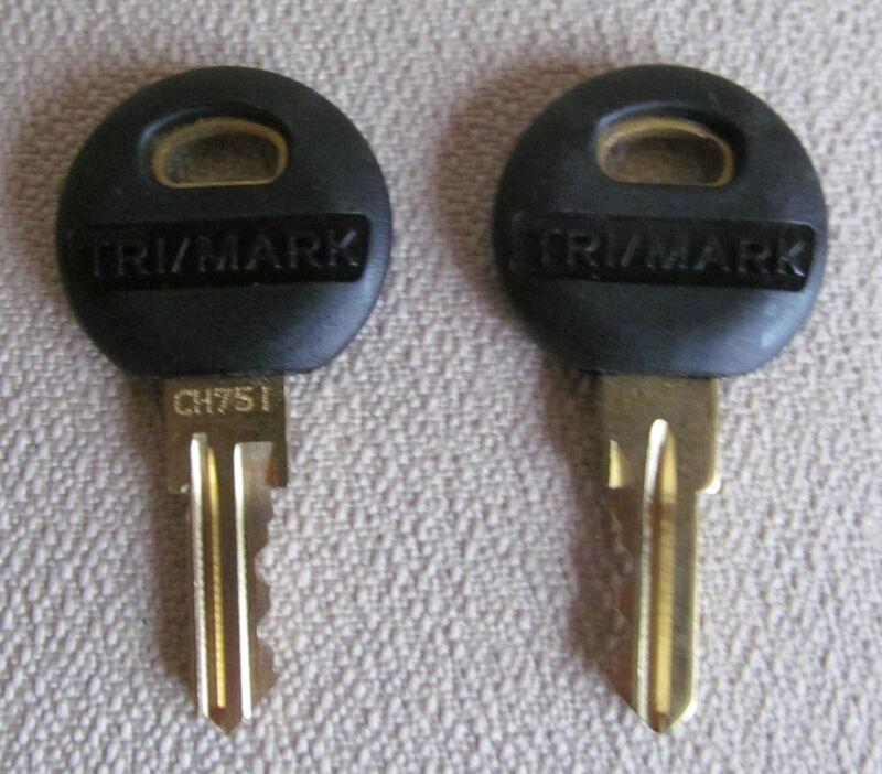 2 TRIMARK KEYS CH751 RV LOCKS BAGGAGE DOORS UTILITY RV KEY Free Shipping!!