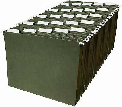 Hanging File Folders - Letter Size Green 25-pack Free Shipping