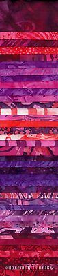 BP 615 Flair Hoffman Fabrics Bali Pops Cotton 2 1/2 inch Fabric Strips