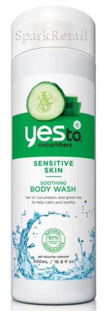 Yes To Cucumbers Organic Soothing BODY WASH 500ml Sensitive Skin Shower Gel