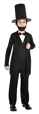 Abraham Lincoln Kids Costume (Abraham Lincoln Boys Child Founding President Halloween)