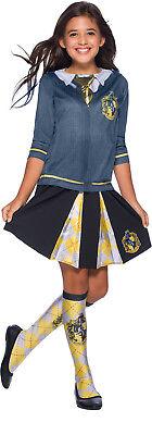 Hufflepuff Harry Potter Mädchen Kind Zauberer Uniform Kostüm (Hufflepuff Mädchen Kostüm)