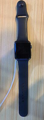 Apple Watch Series 1 42mm Space Gray Aluminum Black Smart Watch - NJ3T2LLA