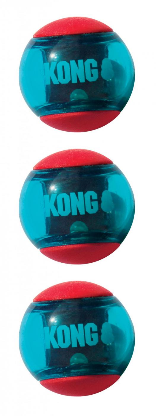 Kong Action Ball Hunde Spielzeug Ball mit Quietscher Multipack Haustierkoenig de