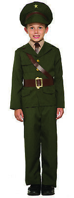 Army Officer Boys Child Military Soldier Halloween Costume