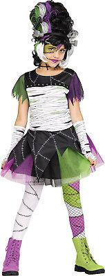 Monster Bride Girls Child Frankenstein Halloween Monster Costume - Female Frankenstein Halloween Costume