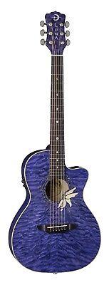 Parlor Acoustic Electric Guitar (Luna Flora Passionflower Purple Acoustic/Electric Guitar,Parlor)