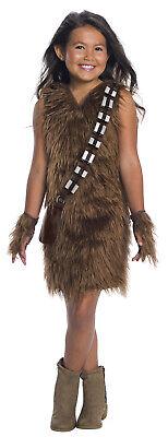 Chewbacca Star Wars Classic Girls Child Furry Deluxe Costume (Chewbacca Girl Kostüme)