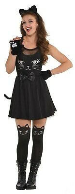 Cat Womens Adult Black Fit And Flare Halloween Animal Costume Dress](Anime Catwoman Costume)