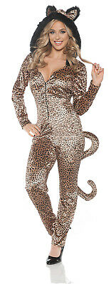 Leopard Cat Jumpsuit Womens Adult Animal Halloween Costume