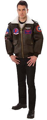 Top Gun Herren Erwachsene Marineblau Kampf Jet Pilot Kostüm Bomber Jacke