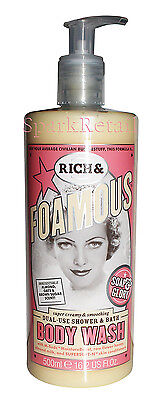 Soap and Glory RICH & FOAMOUS Shower Gel/Body Wash & Bubble Bath Foam 500ml