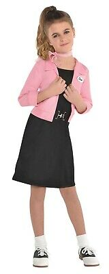 Pink Ladies Girls Child Grease Movie Club 50S Style Halloween Costume