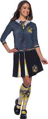 Hufflepuff Harry Potter Womens Adult Wizard Uniform Costume Top (Woman Wizard Costume)