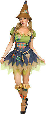 Womens Farmer Costume (Scarecrow Wizard Of Oz Womens Adult Farmer Halloween)