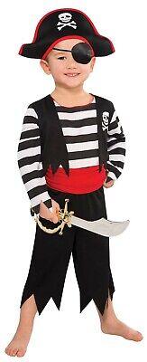 Rascal Pirat Kapität Jungen Kind Seeräuber Bandit Halloween Kostüm ()