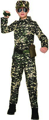 Army Jumpsuit Boys Child Military Solider Camo Halloween Costume - Military Halloween