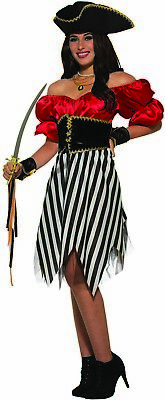 Pirate Matey (Pirate Matey Lady Womens Adult Halloween Buccaneer Costume-Std)