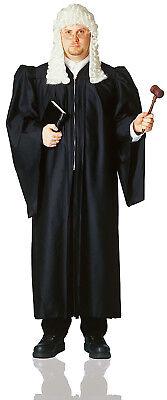 Schwarz Supreme Court Richter Robe HERREN Halloween Mantel - Schwarze Richter Robe Kostüm
