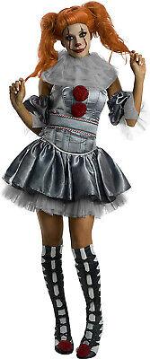 Female Clown Costumes Halloween (Female Pennywise It Movie Killer Clown Womens Adult Halloween)