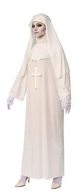 Weiß Nonne Damen Erwachsene American Horror Story Gruselig Halloween Kostüm ()
