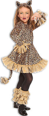 Leopard Girl Childs Wild Animal Printed Cat Halloween - Wild Cat Girl Kostüm