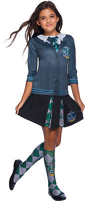 Slytherin Harry Potter Girls Child Wizard Uniform Costume Top](Girl Wizard Costume)