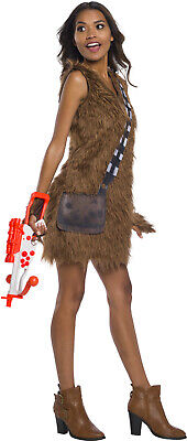 Chewbacca Star Wars Classic Womens Adult Furry Halloween Costume Dress - Chewbacca Halloween Costume