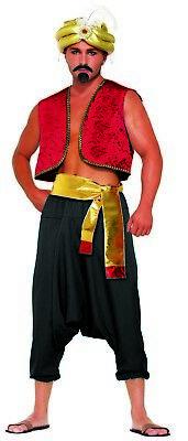 Wüste Prinz Herren Erwachsene Schwarz Sultan Harem Kostüm (Aladdin Hosen Kostüm)