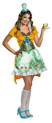 Disguise Sassy Mad Hatter Sexy Deluxe Women's Adult Costume Medium 8-10