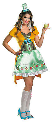 Disguise Sassy Mad Hatter Sexy Deluxe Women's Adult Costume Small 4-6