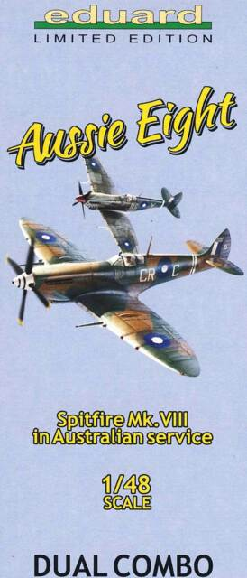 eduard Spitfire Mk.VIII Australian 2 Modelle 31 Versionen mit Buch Ätzteile 1:48