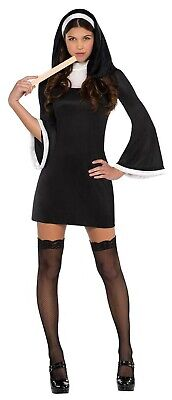 Blessed Nun Womens Adult Religious Sister Short Halloween Costume - Halloween Nun Costumes