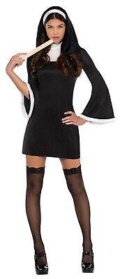 Blessed Nun Womens Adult Religious Sister Short Halloween Costume](Halloween Nun Costumes)