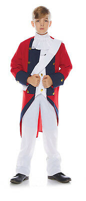 Redcoat Jungen Kind Britisch Soldaten Revolutionär Krieg Kostüm
