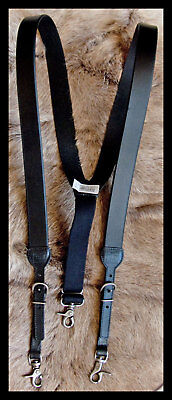 WESTERN LEATHER SUSPENDERS/GALLUSES HEAVY DUTY HDX BY NOCONA -