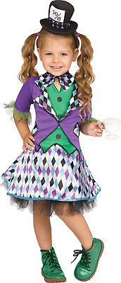 Mad Hatter Costume Toddler (Mad Hatter Girls Toddler Alice In Wonderland Halloween)