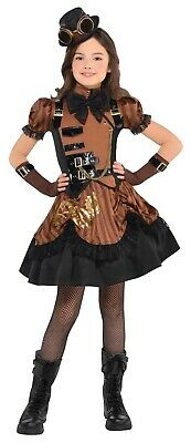Steampunkd Girls Child Industrial Victorian Halloween Costume - Kids Victorian Costumes