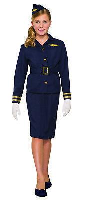 Stewardess Mädchen Kind Flugbegleiterin Halloween Kostüm