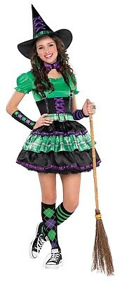 Wicked Cool Witch Girls Teen School Uniform Style Halloween Costume](Cool Women Halloween Costumes)