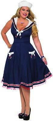 Ahoy Damen Damen Erwachsene Pin Up Matrose Halloween - Pin Up Halloween Kostüm