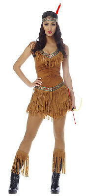 Indianer Maiden Damen Erwachsene Indian Halloween Kostüm